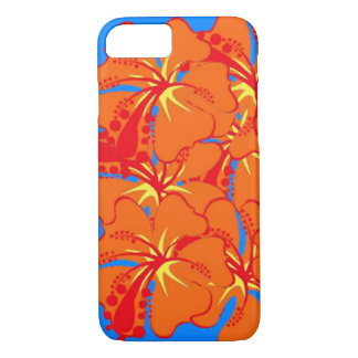 Tropical Plumaria in Orange iPhone 7 case