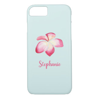 Tropical Plumeria Pink Watercolor iPhone 8/7 Case