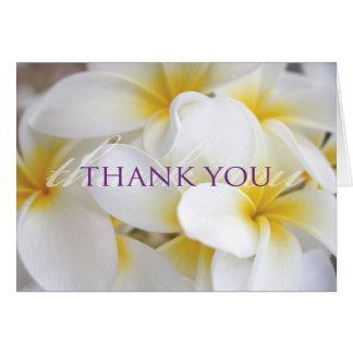 Tropical Plumeria Thank You Card