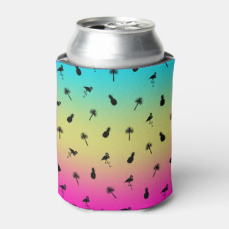 Tropical Print Can Cooler
