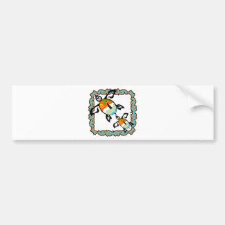 Tropical-print-turtle Bumper Sticker