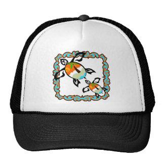 Tropical-print-turtle Cap