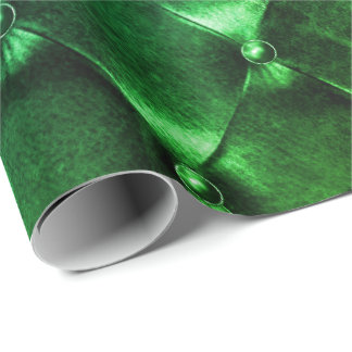Tropical Puffed Leather Minimal Luxury Geometry Wrapping Paper