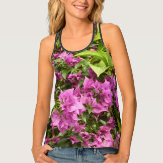 Tropical Purple Bougainvillea Singlet