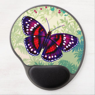 Tropical Purple Butterfly Gel Mousepad