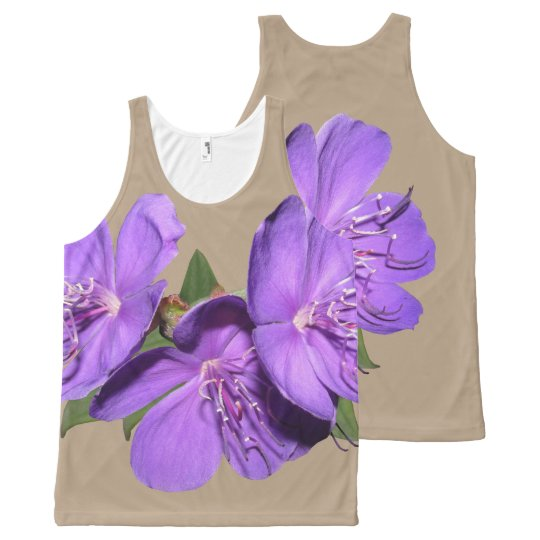 Tropical Purple Flowers tank top
