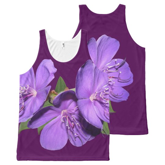 Tropical Purple Flowers tank top