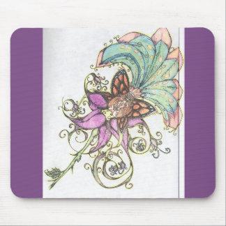 Tropical Purple Hibiscus Bikini Fairy Mousepad