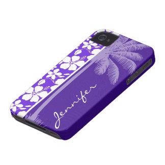 Tropical Purple Hibiscus Case-Mate iPhone 4 Case