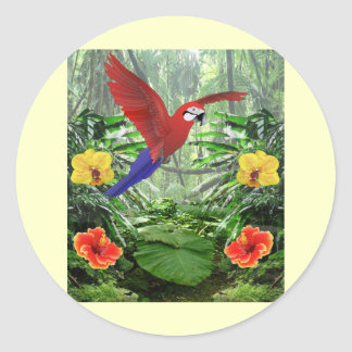 Tropical Rain Forest Classic Round Sticker