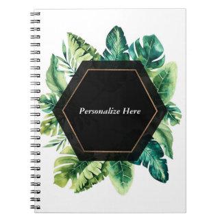 Tropical Rain Forest Island Leaves Elegant Summer Notebooks