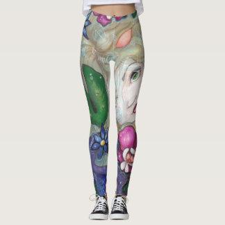 """Tropical Rain"" mermaid fairy fantasy art leggings"