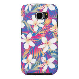 Tropical rainbow frangipani samsung galaxy s6 cases