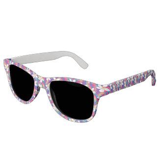 Tropical rainbow frangipani sunglasses