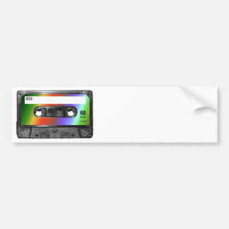 Tropical Rainbow Label Cassette Bumper Sticker