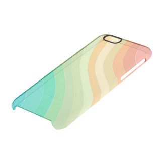 Tropical Rainbow Pastel Stripes Clear iPhone 6/6S Case