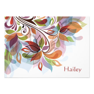 Tropical Rainbow Personalized Stationery Notecard Personalized Invitations