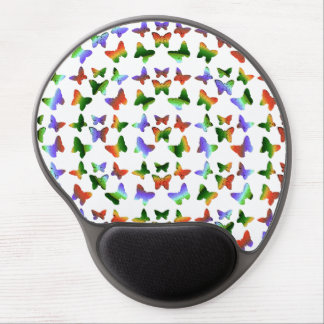 Tropical Rainbow Swirl Butterflies Gel Mouse Pad