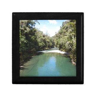 Tropical Rainforest and River in New Guinea Small Square Gift Box