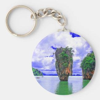 Tropical Rainforest Island Cliffs Key Ring