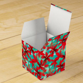 Tropical red hibiscus favour box