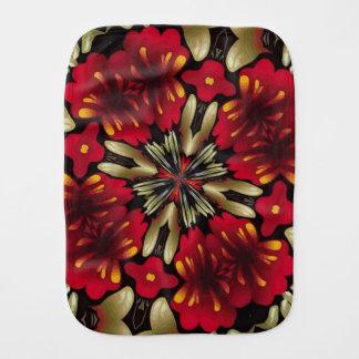 Tropical Red Mandala Kaleidoscope Burp Cloth