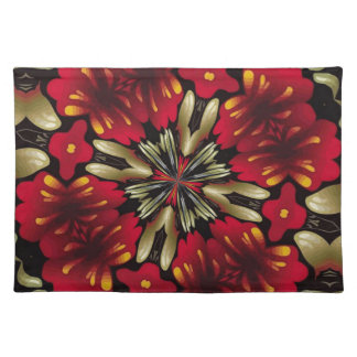 Tropical Red Mandala Kaleidoscope Placemat