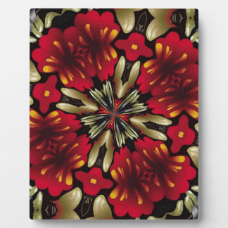 Tropical Red Mandala Kaleidoscope Plaque