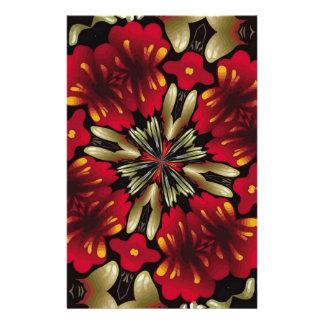 Tropical Red Mandala Kaleidoscope Stationery