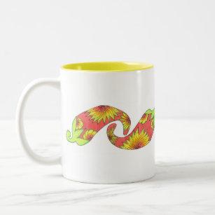 Tropical Red-Orange Peppers Two-Tone Coffee Mug