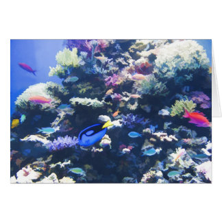 Tropical reef note card