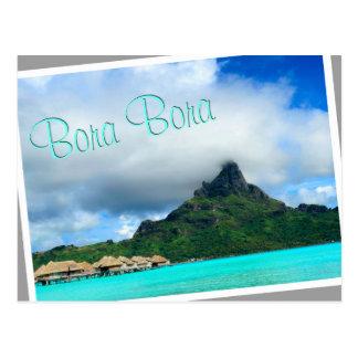 Tropical resort on Bora Bora postcard