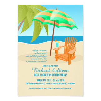 Tropical Retirement Party Invitations