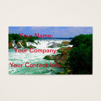 Tropical River Waterfall Business Card