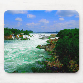 Tropical River Waterfall Mouse Pad