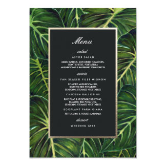 Tropical Romance / Menu Card