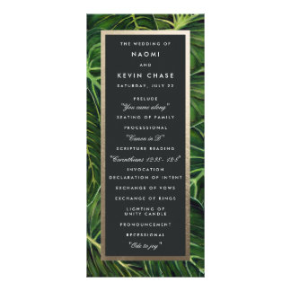 Tropical Romance / Program Customized Rack Card
