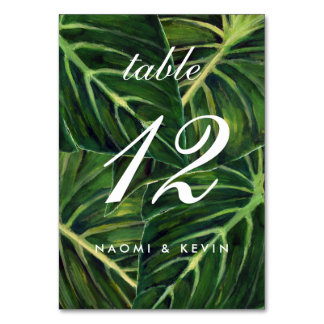 Tropical Romance / Table No. Table Card