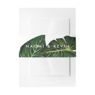 Tropical Romance / Wrap Invitation Belly Band