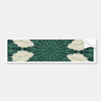 Tropical Sacramento Green and Silver Leaf Mandala. Bumper Sticker