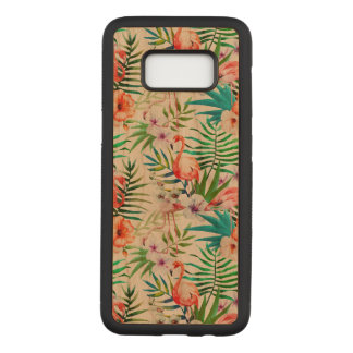 Tropical Samsung Galaxy S8 Cherry Wood Case