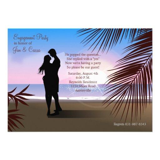 Tropical Sands Engagement Invitation/Announcement