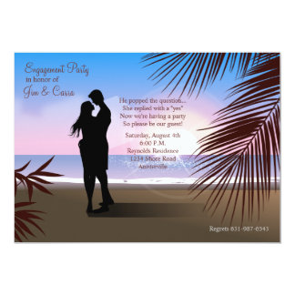 Tropical Sands Engagement Invitation/Announcement 13 Cm X 18 Cm Invitation Card