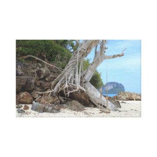 Tropical sandy beach canvas print