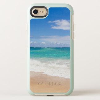 Tropical sandy beach OtterBox symmetry iPhone 8/7 case