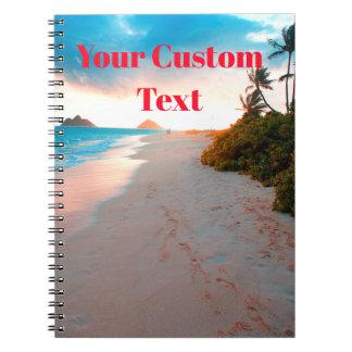 Tropical Sandy Beach Sunset Notebook