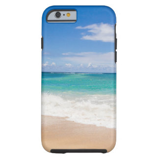 Tropical sandy beach tough iPhone 6 case