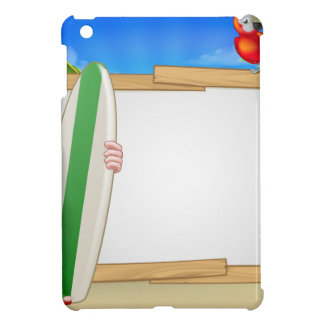 Tropical Santa Beach Background iPad Mini Case