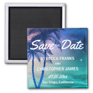 Tropical Save the Date Magnets | Palm Trees