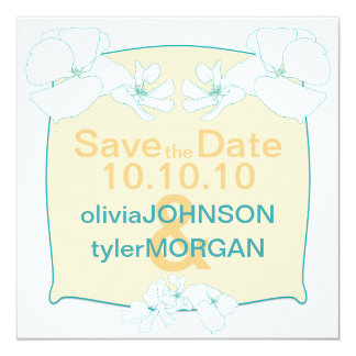 Tropical Save the Date Personalized Announcement